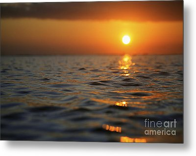 Rippled Sunset Metal Print by Brandon Tabiolo - Printscapes