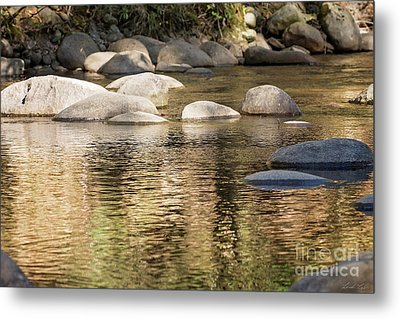 Metal Print featuring the photograph Ripples And Rocks by Linda Lees