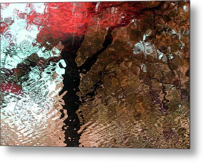 Ripples In Red Metal Print by Carolyn Stagger Cokley