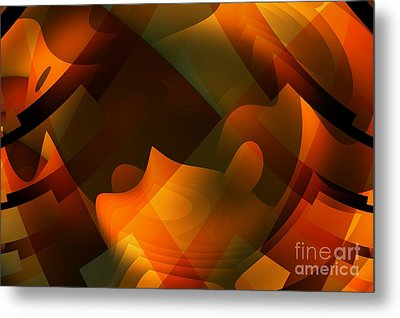 Ripples In The Mind Metal Print by John Edwards