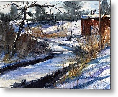 Rippleton Road River Metal Print by Judith Levins