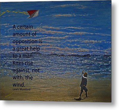 Rise Against The Wind Metal Print by Ian  MacDonald