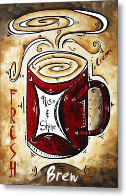 Rise And Shine By Madart Metal Print by Megan Duncanson