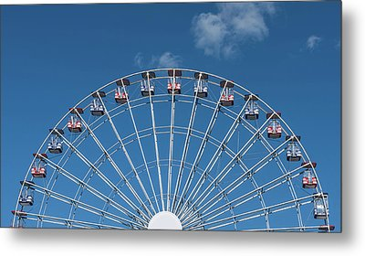 Rise Up Ferris Wheel In The Clouds Seaside Nj Metal Print by Terry DeLuco