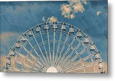 Rise Up Ferris Wheel In The Clouds Metal Print by Terry DeLuco