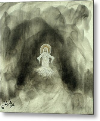 Risen - Original Metal Print by Trish Jenkins