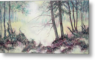 Metal Print featuring the painting Rising On The Morning Air by Carolyn Rosenberger