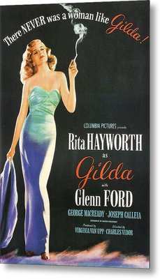 Rita Hayworth As Gilda Metal Print by Georgia Fowler