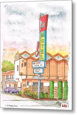 Ritz Motel In North Hollywood - California Metal Print