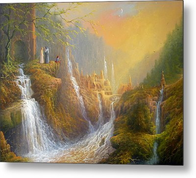 Rivendell Wisdom Of The Elves. Metal Print by Joe  Gilronan