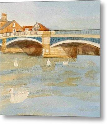 River At Royal Windsor Metal Print