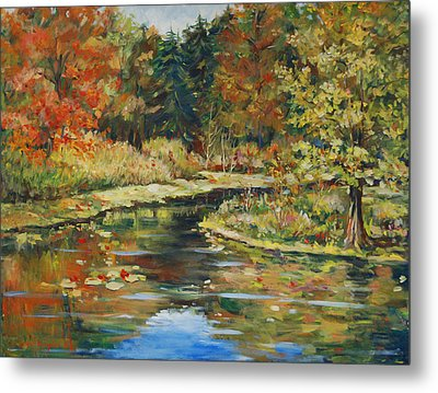 River Bend Metal Print by Alexandra Maria Ethlyn Cheshire