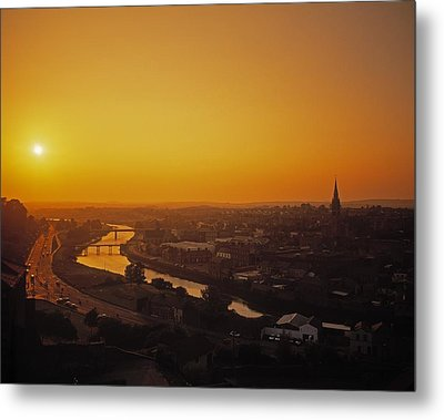 River Boyne, Drogheda, Co Louth, Ireland Metal Print by The Irish Image Collection