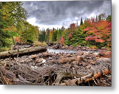 Metal Print featuring the photograph River Debris At Indian Rapids by David Patterson