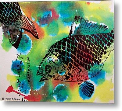 River Fishes Metal Print by Jungsu Lim