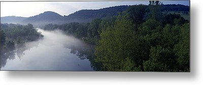 River Flowing In A Forest Metal Print by Panoramic Images