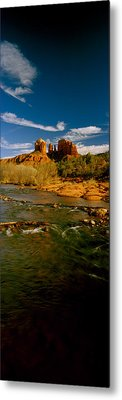 River Flowing Through Rocks, Red Rock Metal Print by Panoramic Images