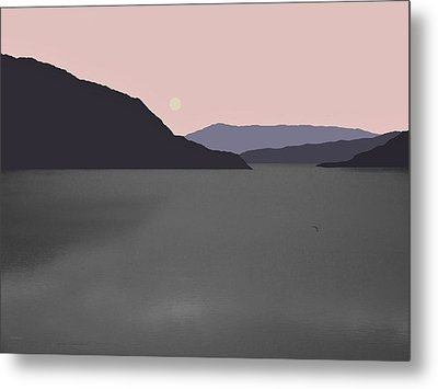 River Fog Metal Print by Val Arie