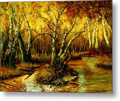 River In The Forest Metal Print