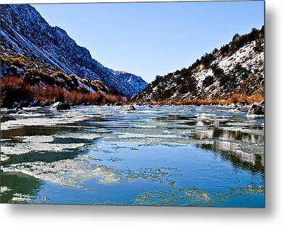River In Winter Metal Print