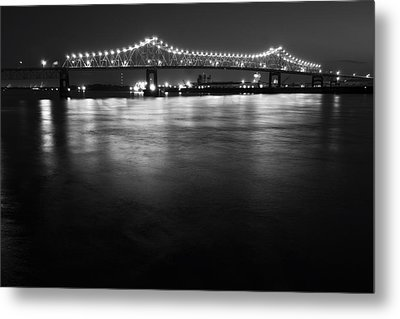 River Lights Metal Print by John Gusky