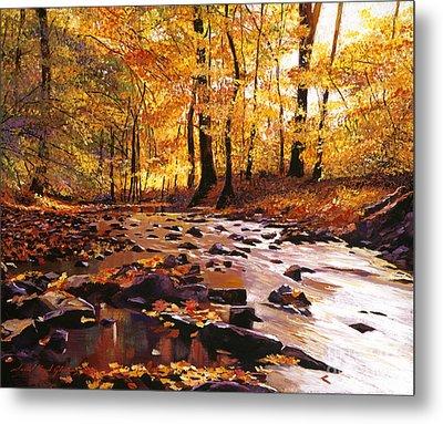 River Of Gold Metal Print