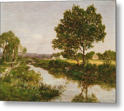 River On The Outskirts Of Quimper Metal Print by Eugene Louis Boudin