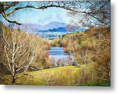 River Overlook Metal Print