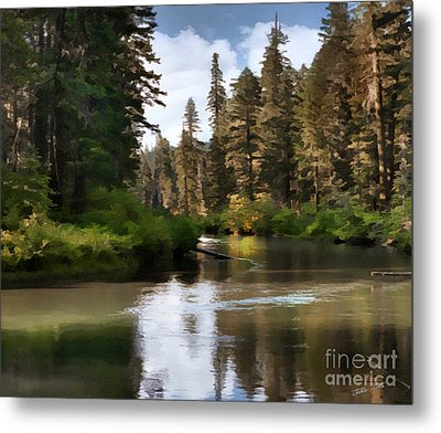 Millers Creek Painterly Metal Print