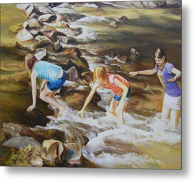 River Rats Metal Print by George Kramer