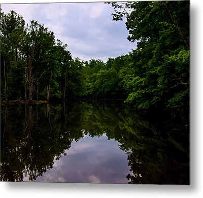 Metal Print featuring the digital art River Reflections by Chris Flees