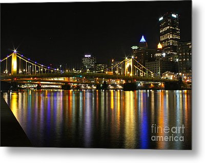 River Reflections Metal Print by Jay Nodianos