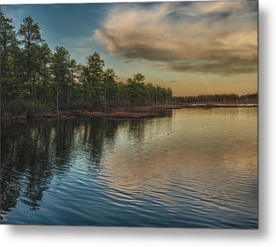 River Reflections On The Mullica River Metal Print