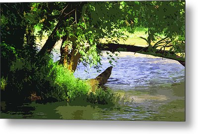 River Ripple Voices Metal Print by Charlie Spear