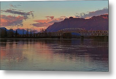 Fraser River, British Columbia Metal Print by Heather Vopni