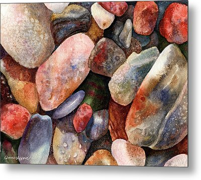 Metal Print featuring the painting River Rocks by Anne Gifford