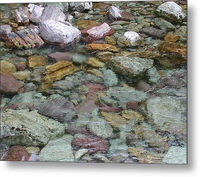 River Rocks Metal Print by Lisa Patti Konkol