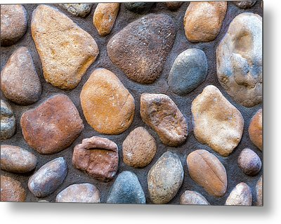 River Stone Rock Wall Background Metal Print