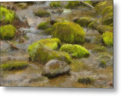 River Stones Metal Print by Paul Bartoszek