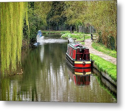 Metal Print featuring the photograph River Stort In April by Gill Billington