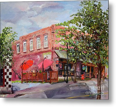 Metal Print featuring the painting River Street Tavern-ellijay, Ga - Cheers by Jan Dappen