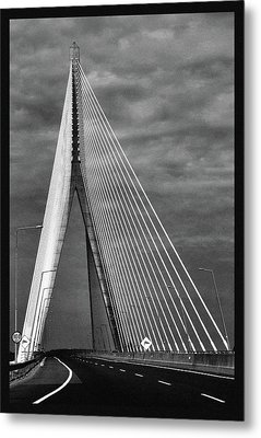 Metal Print featuring the photograph River Suir Bridge. by Terence Davis