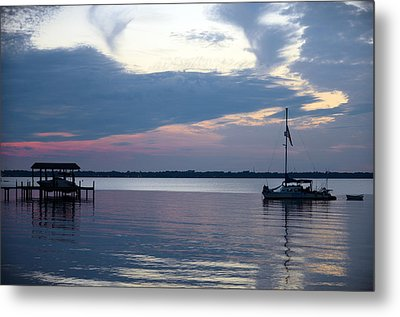 Metal Print featuring the photograph River Sunset by Anthony Baatz