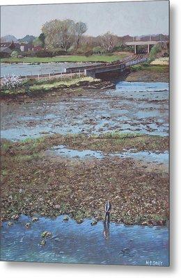River Test At Totton Southampton Metal Print by Martin Davey