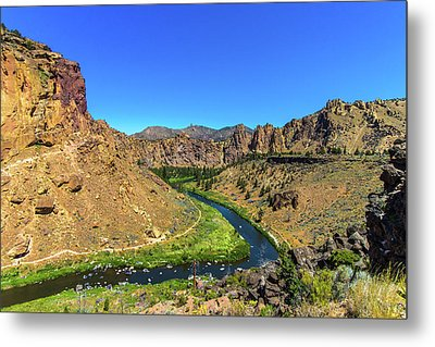 Metal Print featuring the photograph River Through Mountains by Jonny D