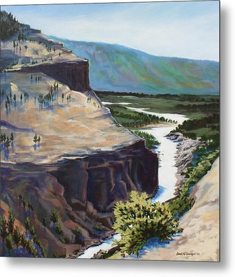 River Through The Canyon Metal Print