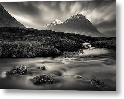 River To The Buachaille Metal Print