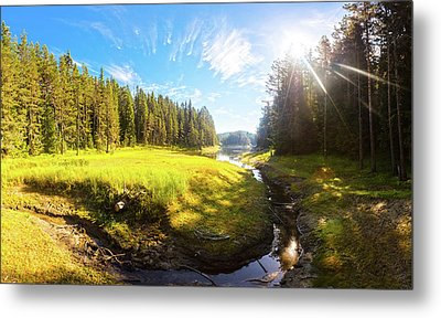 River Valley Metal Print by Evgeni Dinev