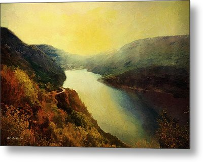 River Valley Sunrise Metal Print by RC deWinter