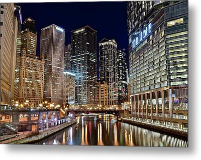 River View Of The Windy City Metal Print